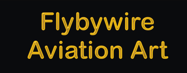 Flybywire Aviation Art text Logo